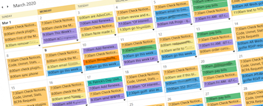 Use Your Calendar to Make You More Efficient, Effective, Creative, and Successful