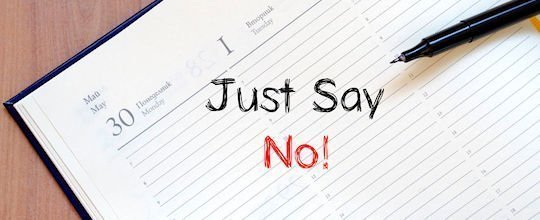 image - say no