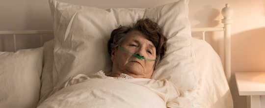 image - dying elderly woman